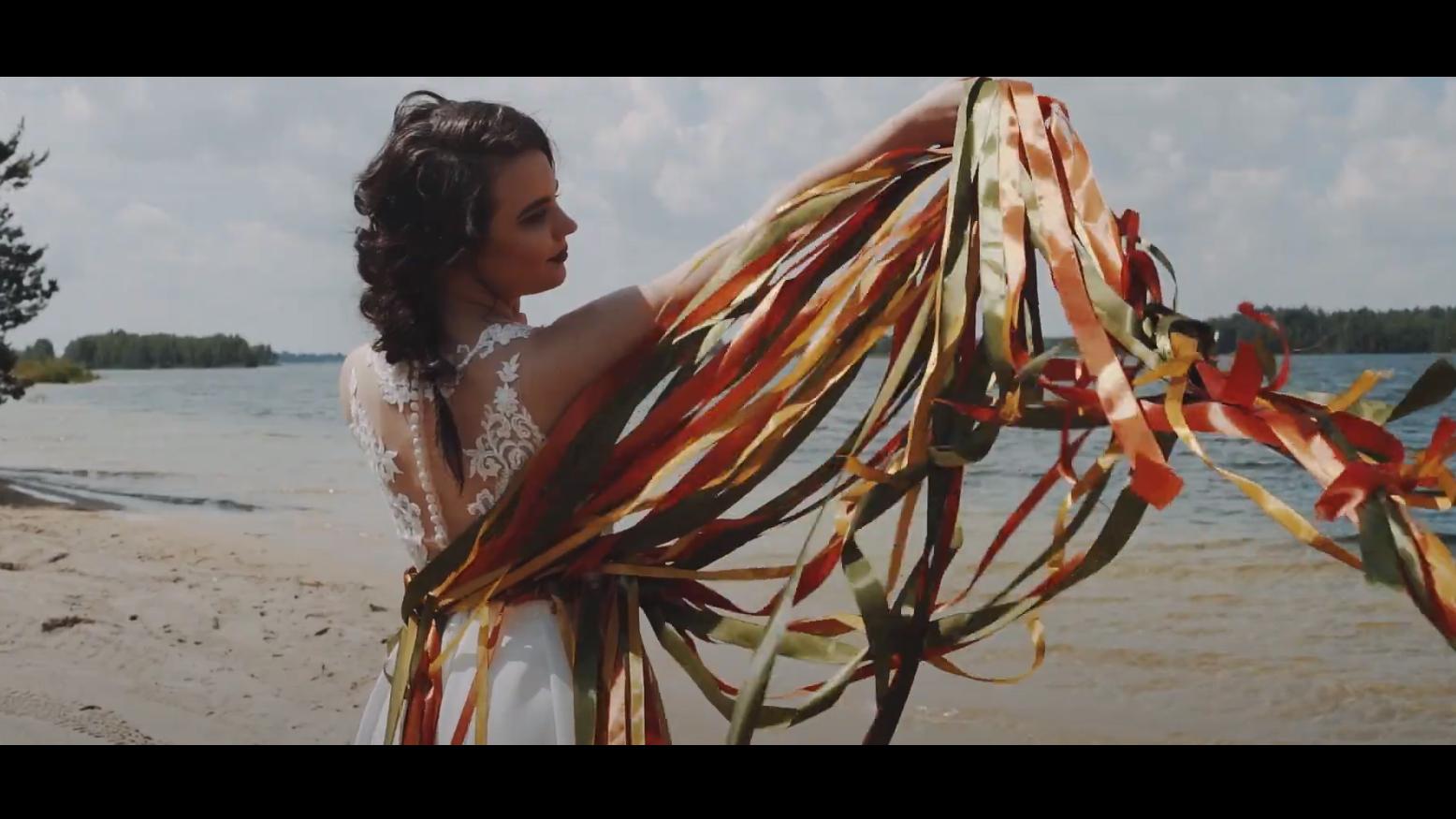 Letnia ślubna sesja stylizowana | plaża, wstążki, natura |Summer wedding session